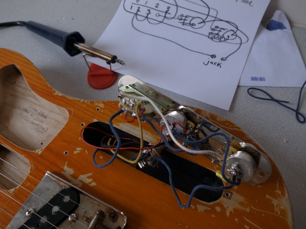 Schema Cablaggio Fender Telecaster : Homemade fender esquire just you and my guitar